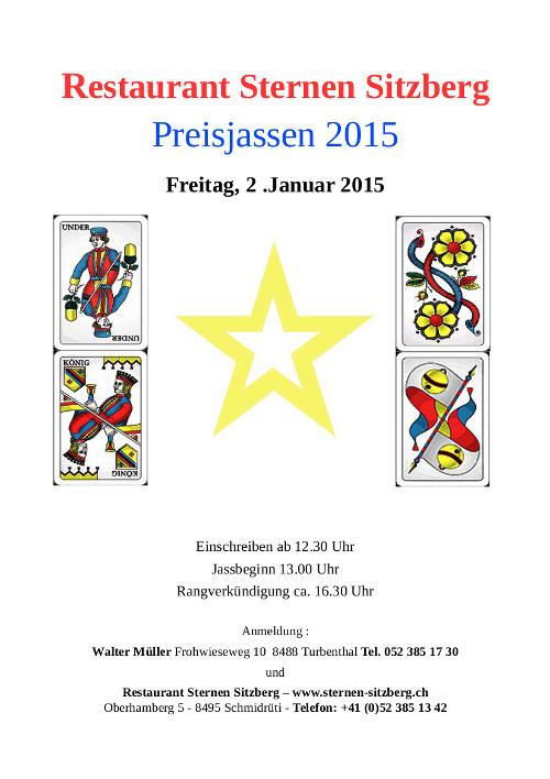 Restaurant Sternen Jassen 2015